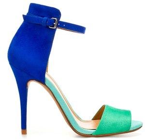 Zara Blue Basic Heels 37 | eBay