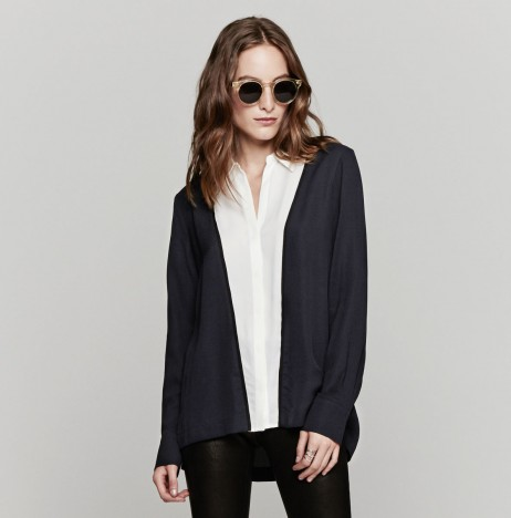A.L.C. Scott Top In Navy White Black | The Dreslyn