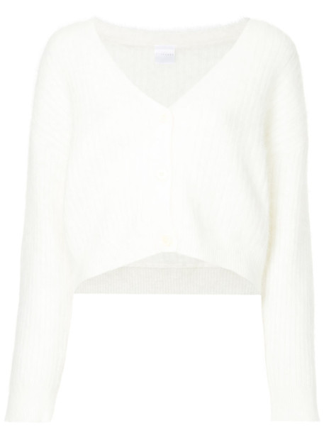 Cityshop cardigan ribbed cardigan cardigan cropped women white wool sweater