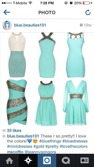 blue dress teal dress light blue