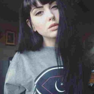 moon star red white sweater black gray diamon nose ring