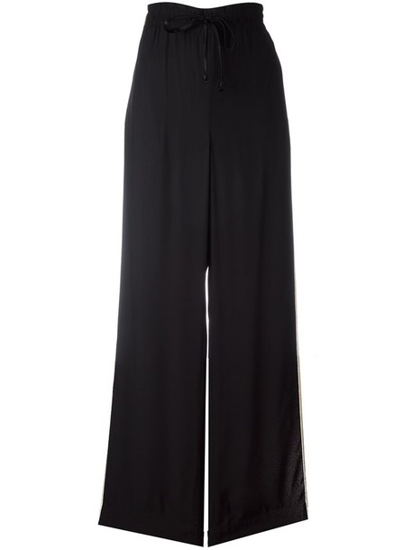 pants palazzo pants women drawstring black
