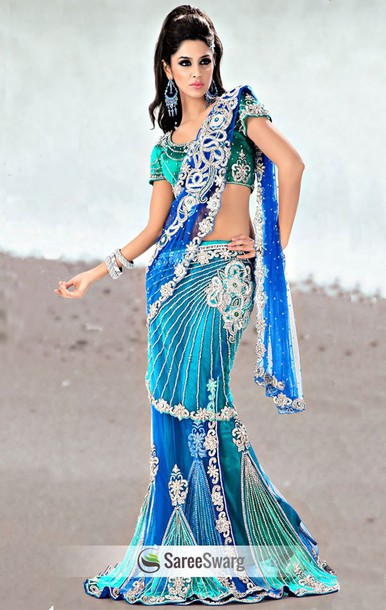 dress lehengas choli blue dress