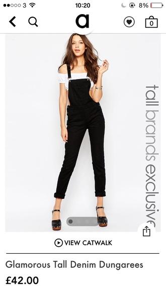 pants asos black overalls dungarees