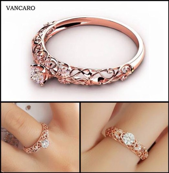 jewels rose gold ring