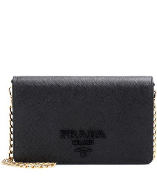 Prada bag shoulder bag leather black
