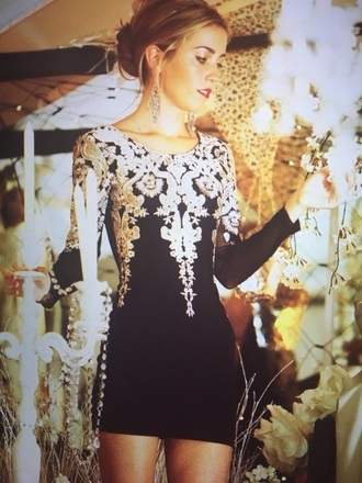 dress party dress new year's eve long sleeves black dress bodycon dress