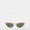 Cat eye sunglasses in acetate