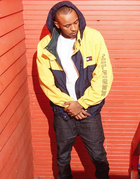 Jacket: tommy hilfiger, menswear, streetstyle, 90s style ...