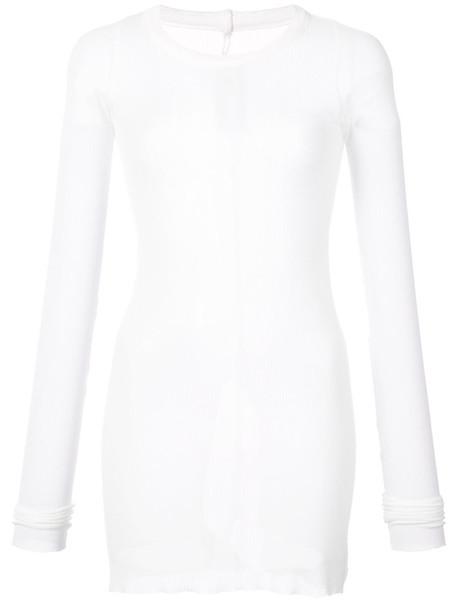 Rick Owens t-shirt shirt t-shirt long women white silk top