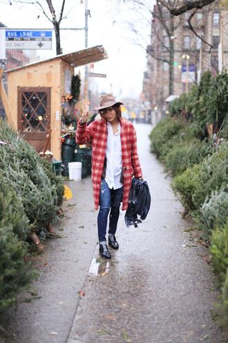 trop rouge blogger coat top cardigan jeans hat shoes scarf sézane