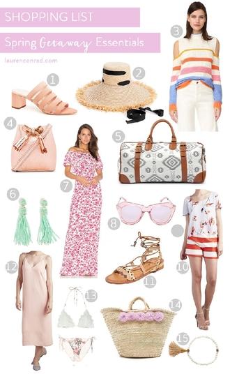 lauren conrad blogger hat sweater bag jewels dress sunglasses top shorts shoes underwear swimwear mules straw hat raffia bag