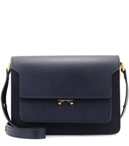 MARNI bag shoulder bag leather blue