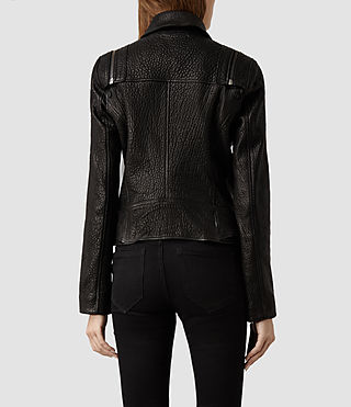 Womens Alford Leather Biker Jacket (Black) | ALLSAINTS.com
