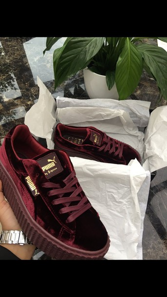 1a775a0f915 shoes maroon and gold puma burgundy and gold riri by rihanna