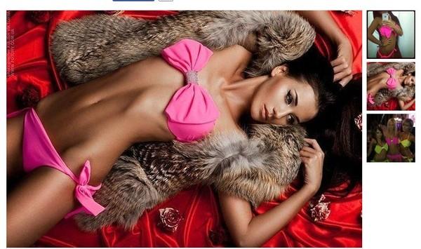 swimwear swimwear pink bows bikini black bikini sexy underwear vs