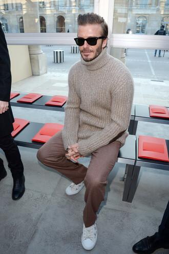 sweater turtleneck turtleneck sweater menswear david beckham fashion week 2017 mens sweater fashion week