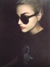 hair accessory,sunglasses,grunge wishlist,frances bean cobain,kurt cobain