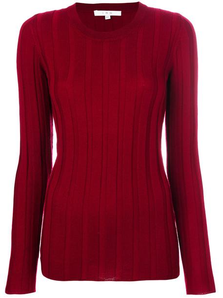 Iro - ribbed knit jumper - women - Wool - XS, Red, Wool