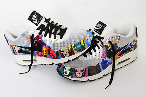 newest 5e229 bc156 Hump Day Cool Finger  Custom Andy Warhol Marilyn Monroe Nike Air ...