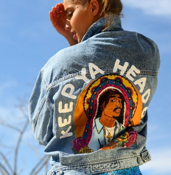 jacket we koko light denim 36683 denim jacket tupac top jean jackets oversized light blue painted jeans