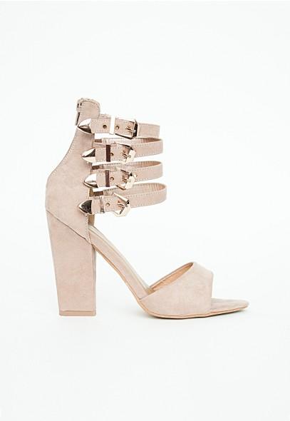 Hannah Heels With Buckle Detailing - Footwear - Heels - Missguided