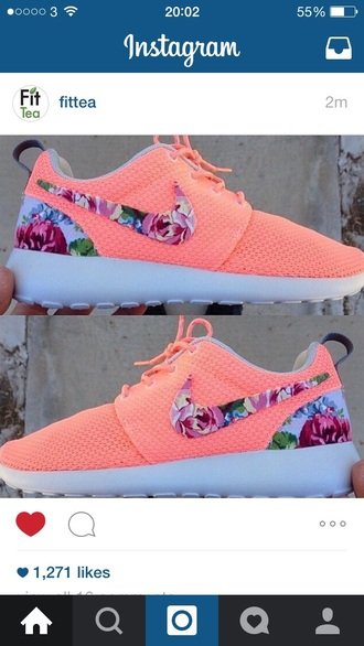 shoes cute summer nike trainers pink floral style summer shoes