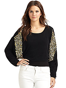 T-bags Los Angeles - Embellished Cropped Sweater - Saks Fifth Avenue Mobile