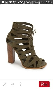 shoes,booties,heels,olive green,army green