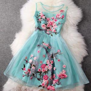 """Stunning """"Water Lake"""" Floral Organza Lace Dress.   Amazing Fashion UK"""