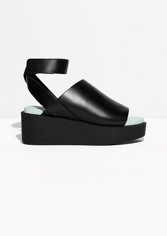 the blonde salad blogger shoes wedges black shoes leather sandals minimalist shoes