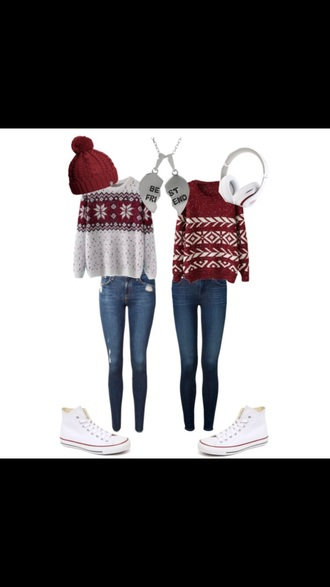 sweater cute christmas bff sweaters