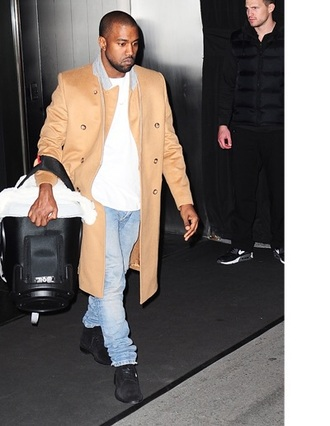 kanye west camel coat mens coat coat menswear