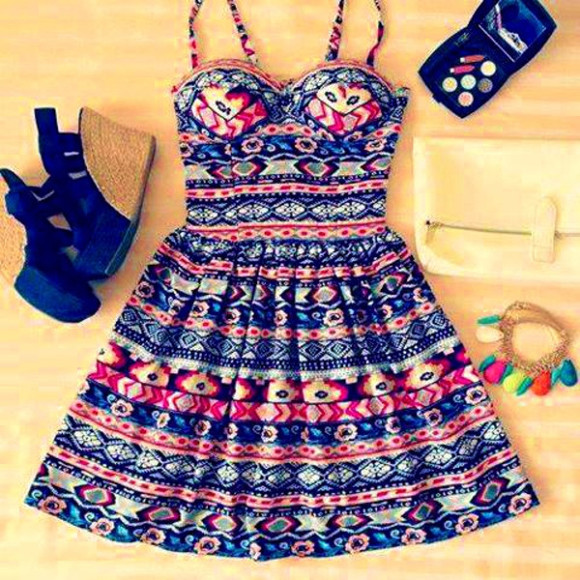dress printed dress print cute casual