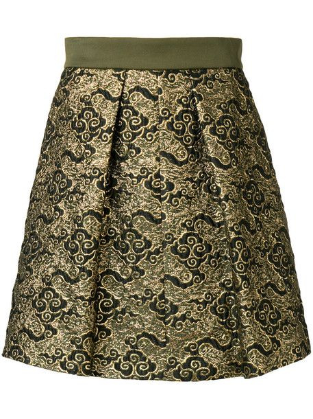 Dorothee Schumacher skirt metallic women jacquard cotton green