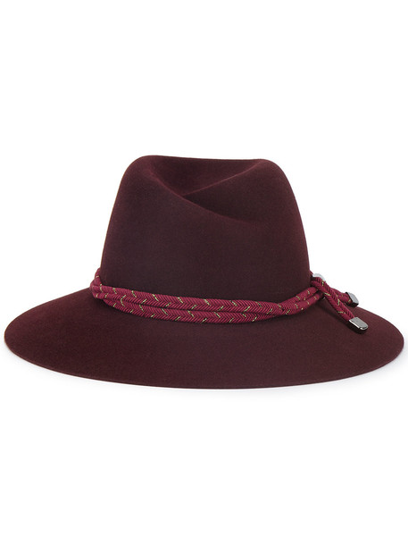 hat purple red