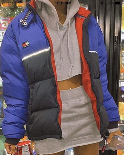 jacket tommy hilfiger puffer jacket blue black tommy hilfiger jacket tommy hilfiger vintage