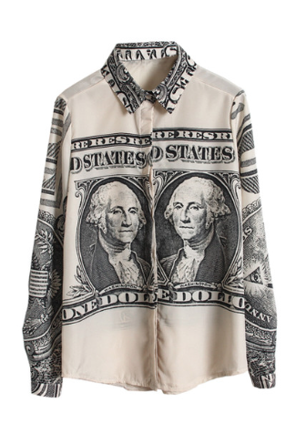 The dolla dolla bill y'all blouse