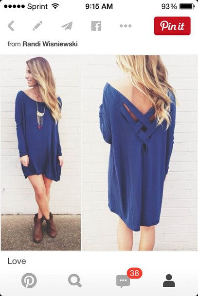 dress blue dress long sleeve dress