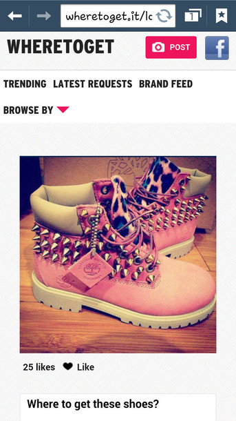 shoes pink leopard timberlands