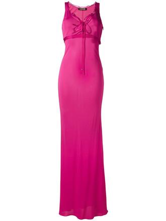 dress sleeveless women silk purple pink