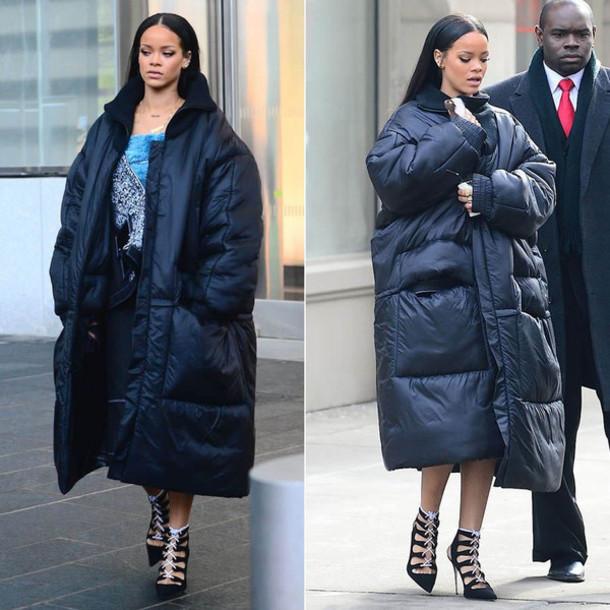 coat rihanna winter coat