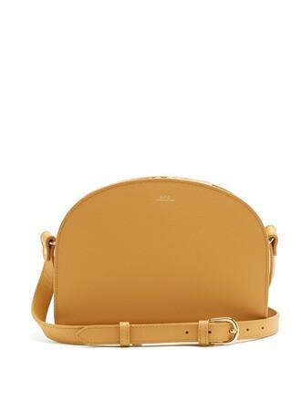 cross moon bag leather beige