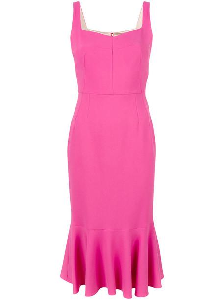 Dolce & Gabbana dress midi dress women midi cotton purple pink