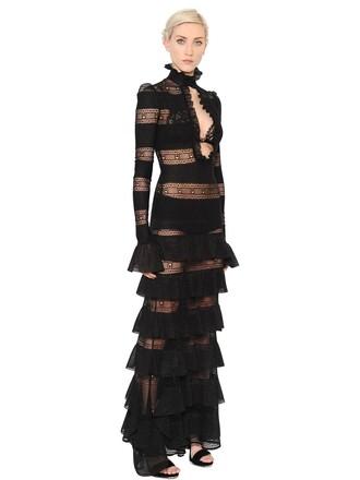 dress knit silk black