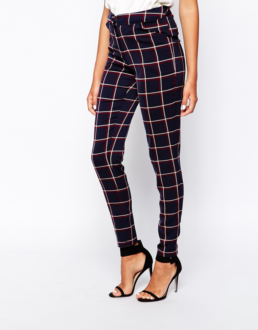 Girls on Film Trousers in Check at asos.com
