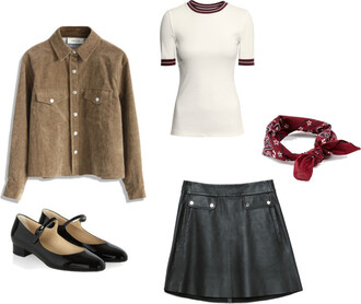 the fashion eaters blogger leather skirt suede jacket