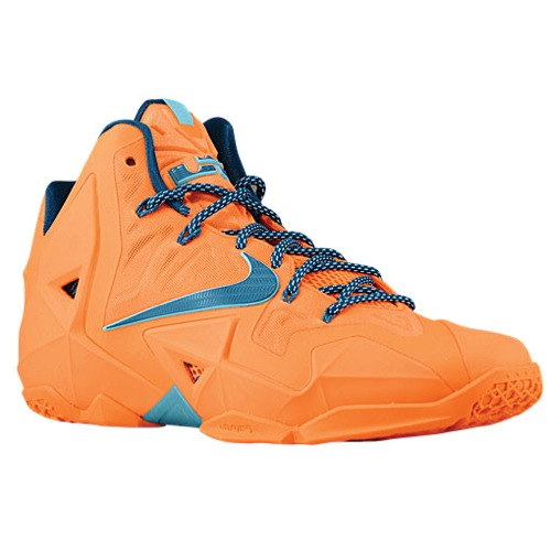 Nike LeBron XI - Men's - Basketball - Shoes - Atomic Orange/Glacier Ice/Green Abyss