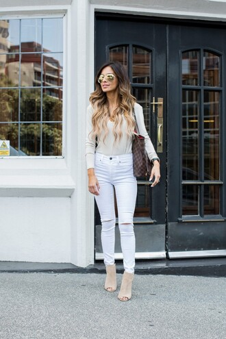 maria vizuete mia mia mine blogger jeans shoes sunglasses bag jewels