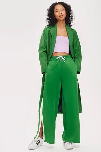 pants track pants green